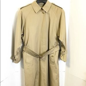 BURBERRY Mens Vintage Lined 100% Wool Belted Coat
